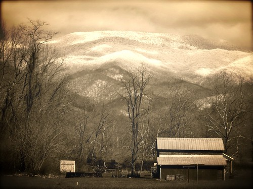 winter snow mountains sepia barn manipulated geotagged effects spring country olympus aviary tinroof dillingham barnardsville 2013 mystuart