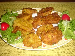 meal, fried food, cutlet, fritter, schnitzel, pakora, produce, food, dish, cuisine, fast food,