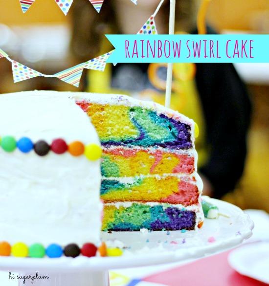 Hi Sugarplum | Rainbow Swirl Cake