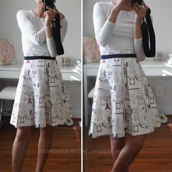 SPG vintage letters fabric paperbag skirt