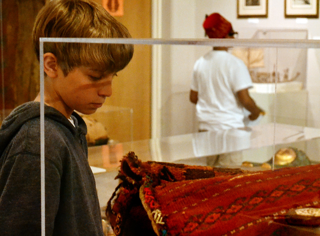 Students from James Denham Middle School visit SF State's Egyptian museum on the fifth floor of the humanities building on Friday, March 22, 2012.  Photo by Samantha Benedict / Xpress