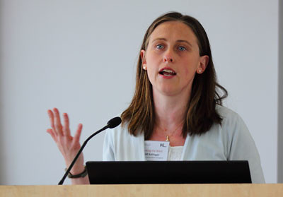Gill Ballinger (UWE) speaking on Bath's adoption of Jane Austen