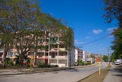 El reparto Virginia, modelo constructivo de edificios rusos Gran Panel, el primero de su tipo en Santa Clara. Levantado en los 70.  Cuba 2013