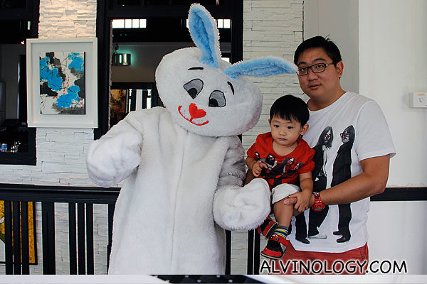 Asher and I with Mr Rabbit