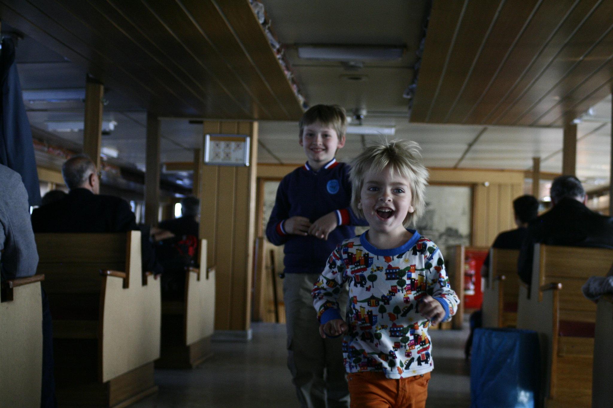 Anton and Matti on the vapur.