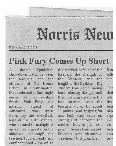 Pink Fury Comes Up Short