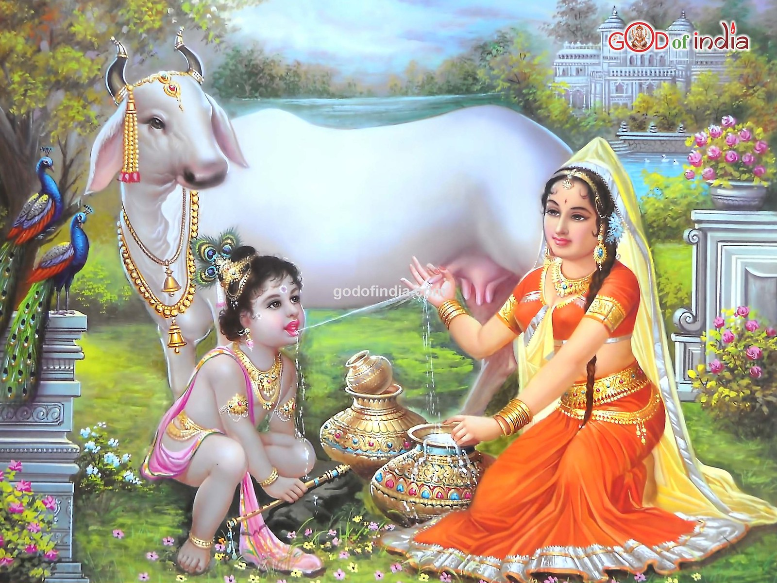 krishna-with-yashoda-drinking-cow-milk | Flickr - Photo Sharing!