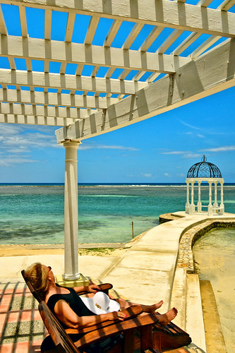 travel vacation woman lady female getaway caribbean relaxation tpslandscape