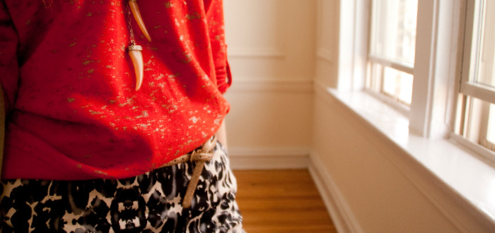 red+leopard pattern mash-up