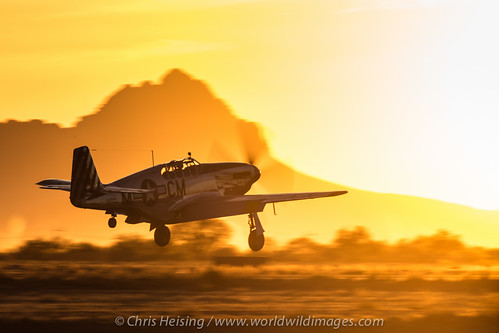 sunset arizona airplane unitedstates aircraft aviation flight foundation mustang departure warbird p51 marana collings