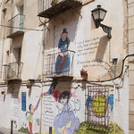 Mural in old town Alicante
