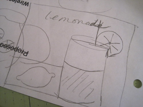 Lemonade sketch...figuring out the block!