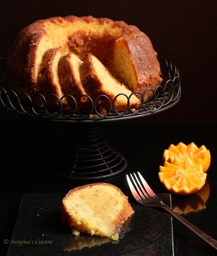 Swapna S Cuisine Orange Soaked Bundt Cake