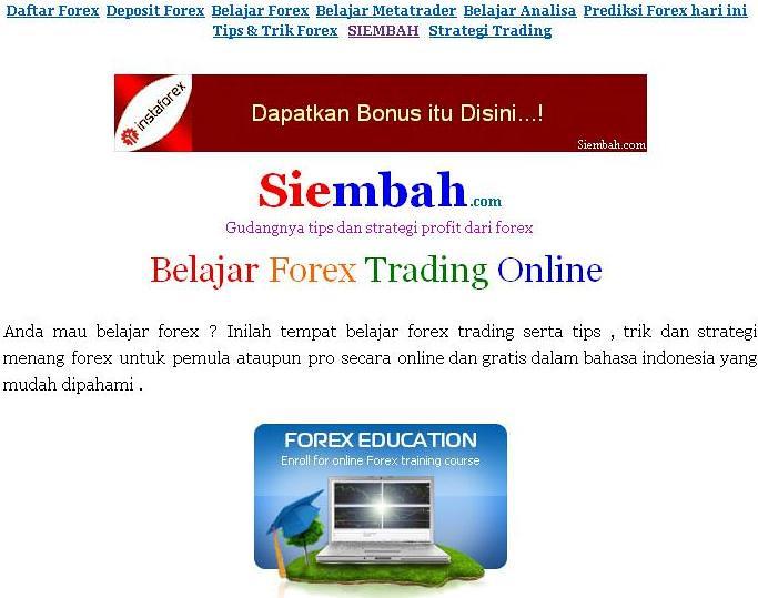 Belajar Forex Online Untuk Pemula | Forex Strategy Tips