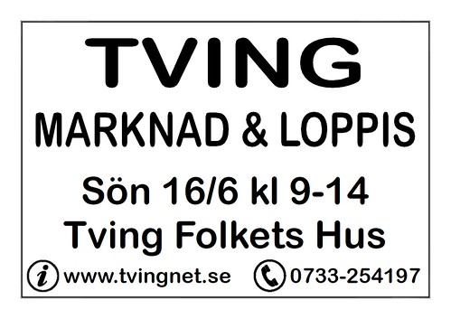 Tving Marknad 2013 - Skylt