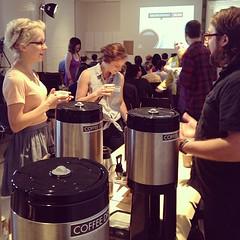 @jonathanbonchak sharing coffee at Creative Mornings - Raleigh! @Raleigh_CM  #CMRal @CAMRaleigh