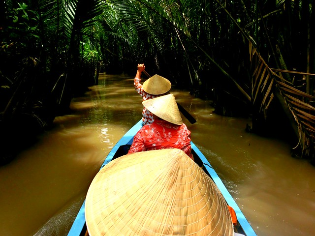 Traveling down the Mekong Delta in Vietnam