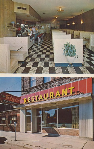 vintage restaurant michigan postcard parkingmeter flair saultstemarie dualview