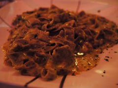 金, 2013-04-26 19:49 - Chestnut pasta with pistachio sauce and truffle oil