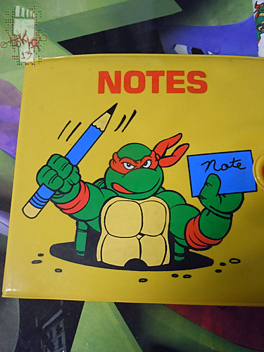 NOTEWORTHY :: TEENAGE MUTANT NINJA TURTLES 'MINIATURES'; NOTE PAD ii (( 1990 ))