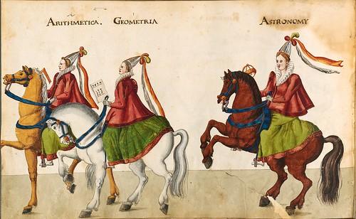 009-Sobre las siete artes liberales-Descripción de las ocho festividades celebradas durante los juegos…1596-Biblioteca Estatal de Baviera