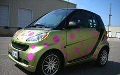dotted smart car custom smart car dottedsmartcar_driverside