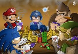 Mario gra w pokera