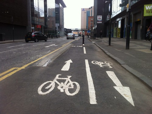 Glasgow Bike Lanes, Waterloo Street