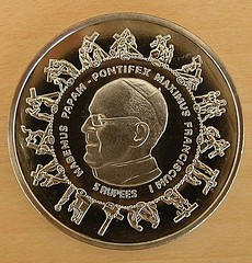 Seychelles Pope coin obverse