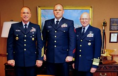 Adm. Papp and MCPOCG Leavitt with Award Recipient