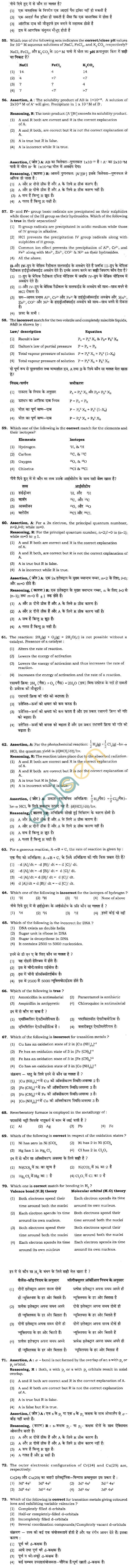 BHU UET 2011 B.Sc. Biology Question Paper