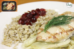 Grilled Chicken Breast on Fennel w/Cranberry Barle…