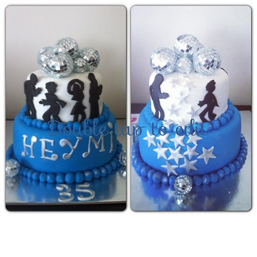 #discothemedcake front and back view:) by l'atelier de ronitte