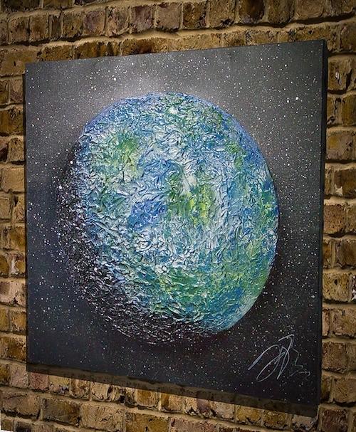 Spray Paint Earth