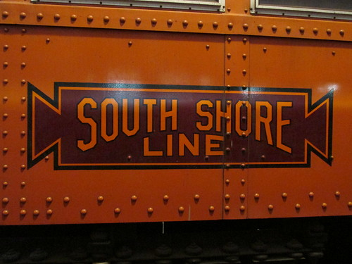 Chicago, South Shore And South Bend Railroad logo.  The Illinois Railway Museum.  Union Illinois.  Saturday, May 18th, 2013. by Eddie from Chicago