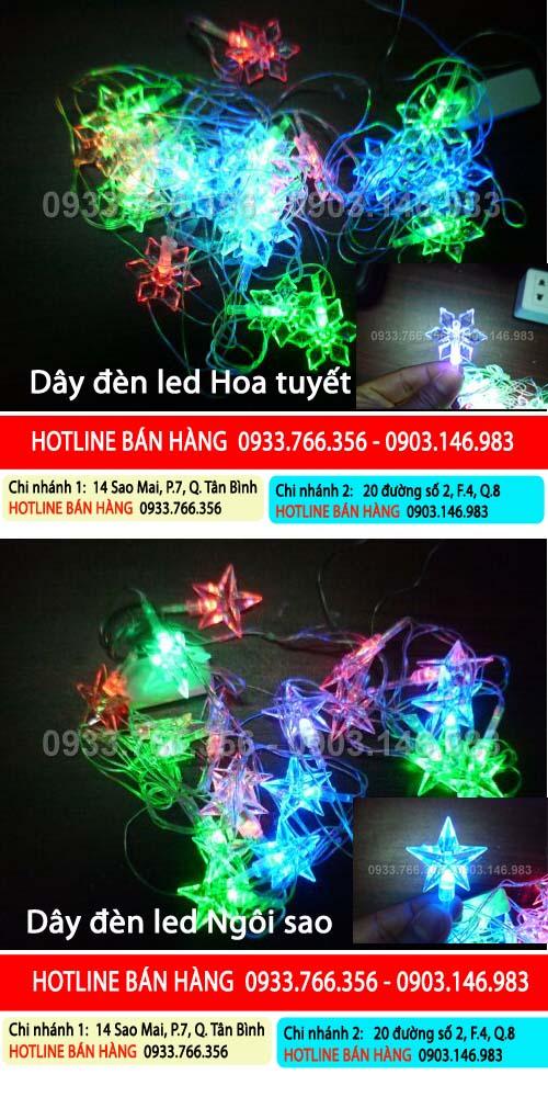 Bán đèn trang trí cây thông Noel giá rẻ
