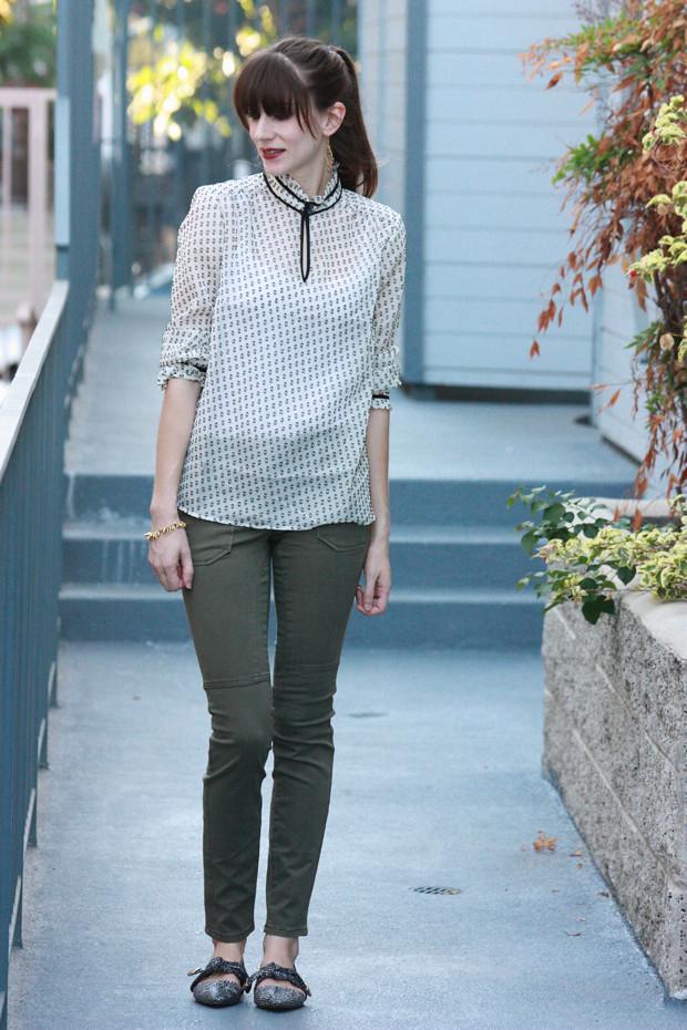 Clip Dot Blouse, moto jeans