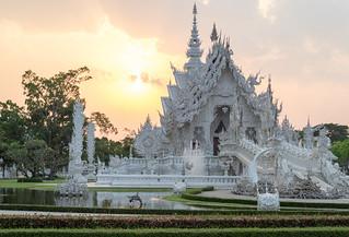 Image of Wat Rong Khun. tambonpaodonchai changwatchiangrai thailand th watrongkhun whitetemple