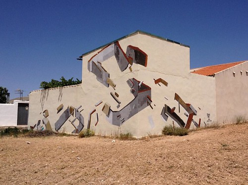 Las mesas, Cuenca #lamanchacolors #painting #mural #graffiti #architecture #castillalamancha @la_mancha_colors