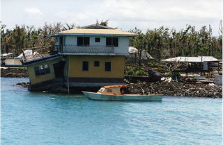 WESTERN SAMOA: Damage to house from Cyclone Val