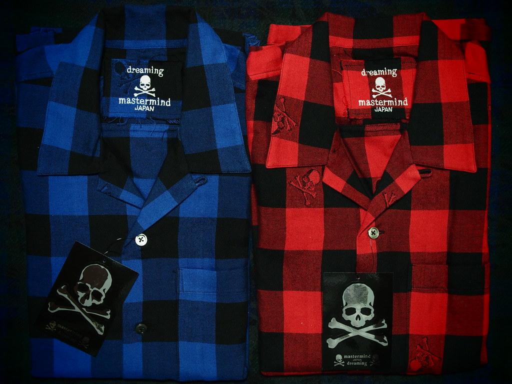 mastermind JAPAN | Skull Jacquard Block Cheakered Short Sleeve Shirt