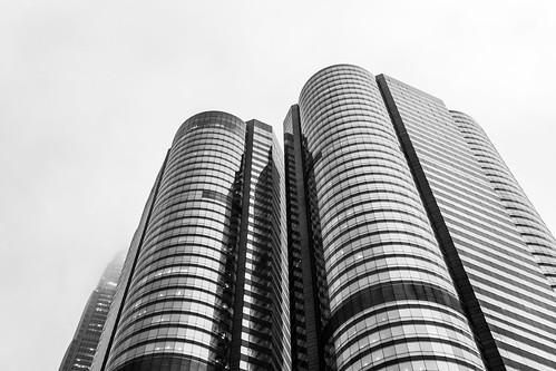 """""""交易廣場 Exchange Square"""" / 香港中環金融建築之形 Hong Kong Central Financial Architecture Forms / SML.20130326.7D.36611.BW"""