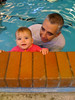 Phoebe and Richie at swimming classes