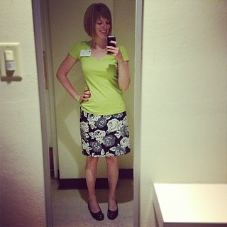 Lime and flowers for spring! #ootd #9to5