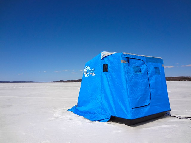 Lonely ice fishing tent flickr photo sharing for Ice fishing tents