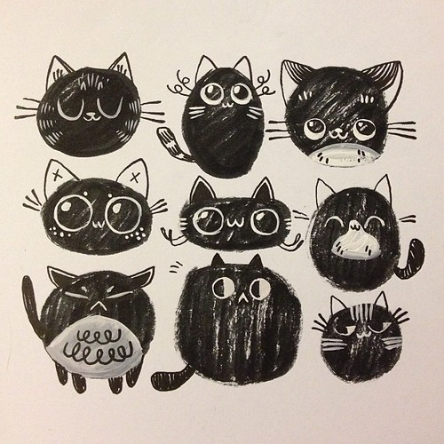 Super silly doodle cats! #sketch #pattern