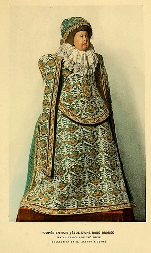 002-Muñeca en madera con traje bordado siglo XVI-Histoire des jouets….1902- Henry René d' Allemagne