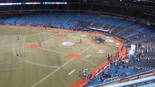 View from my seat at Rogers Centre