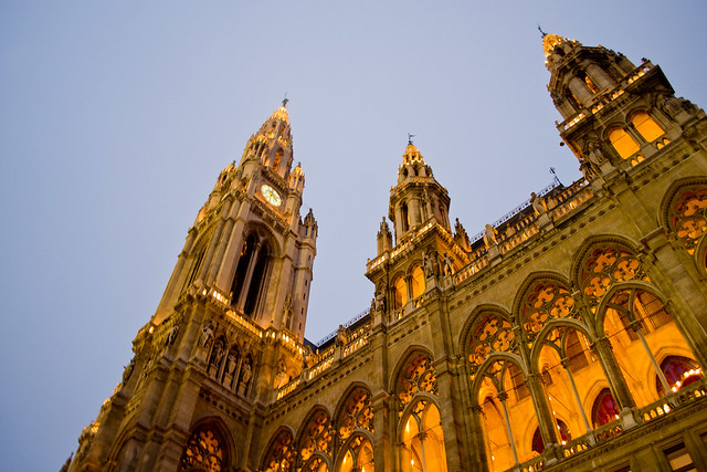 Upclose With the Rathaus | Vienna, Austria