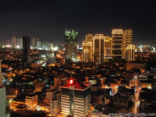 Makati City at day, dawn, night time - photos by Azrael Coladilla